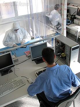 laboratoire de récupération de données RECOVEO